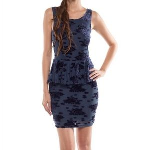 Coveted Clothing Peplum BodyCon Dress